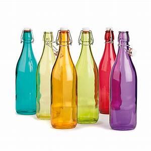 Bouteille De Verre : bouteille en verre plusieurs coloris disponibles st phane d coration int rieur alin a ~ Teatrodelosmanantiales.com Idées de Décoration