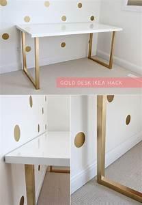 Besteck Gold Ikea : honey we 39 re home gold desk ikea hack ~ Sanjose-hotels-ca.com Haus und Dekorationen