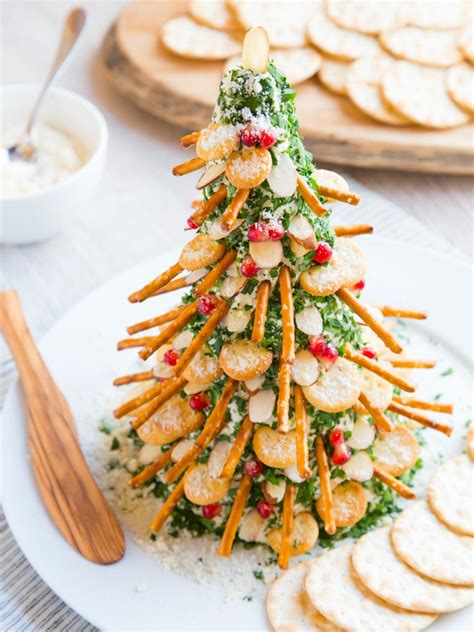 christmas tree saver recipe how to make a cheese and crackers tree food network recipes menus