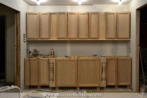 how to make stock cabinets look custom diy decorative feet for stock cabinets