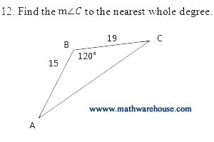 law of sines and cosines worksheet with key pdf