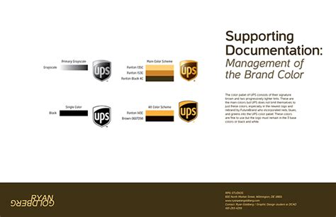 Ups Logo Design On Pantone Canvas Gallery