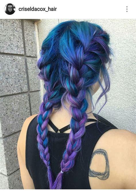 The 25 Best Galaxy Hair Ideas On Pinterest Galaxy Hair