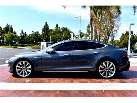 Fully Electric Cars For Sale by 2014 Tesla Model S Fully Loaded Low Sd Electric