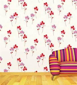 Fliesen Tapete Küche Selbstklebend : selbstklebende tapete bl mchen seideneffekt rot tapetenwelt ~ Michelbontemps.com Haus und Dekorationen