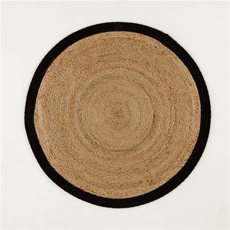 tapis rond aftas naturelnoir la redoute interieurs la