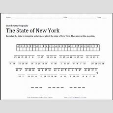 New York State Decipher The Code Worksheet  Free To Print (pdf File)  Social Studies