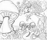 Coloring Trippy Adults Mushrooms Colouring Adult Mushroom Printable Psychedelic Colorear Imagem Deviantart Toadstool Drawing Dibujos Drug Ftw Sheets Getdrawings Zentangles sketch template