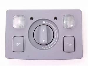 Sunroof Control Switch Map Dome Light Gray 98