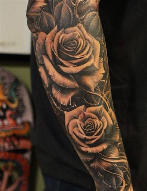 rose tattoos  men cool designs ideas  guide creative passions sleeve