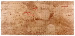 NASA Mars Map Labeled - Pics about space