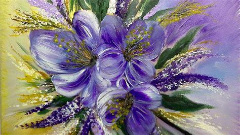 sommerblumen einfach malen blumen easy painting flowers v52