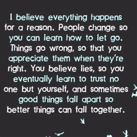 Everything Happens For A Reason For Experience Or A Lesson Nothing