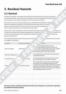 health and safety file cdm template haspod With cdm health and safety file template