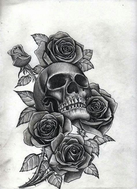 skull  roses tattoos pinterest