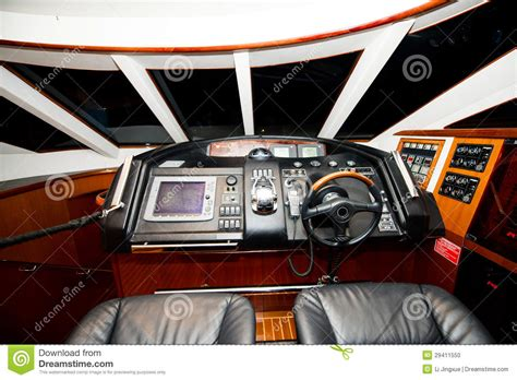 boat cockpit stock photo image