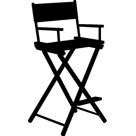 chaise réalisateur stickers muraux cinéma sticker chaise de réalisateur
