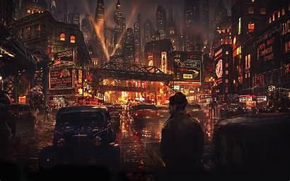 Cyberpunk 4k Cyber Night Street Cityscape Concept