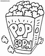 Popcorn Coloring Printable Pages Box Drawing Pop Corn Sheets Container Template Healthiest Snack Kernel Bildresultat Foer Sheet Se Sketch Drawings sketch template