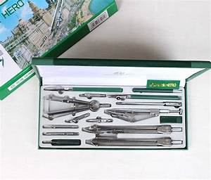 Hot Authentic Hero 15pcs  Set H4015 Compass Drawing Tool
