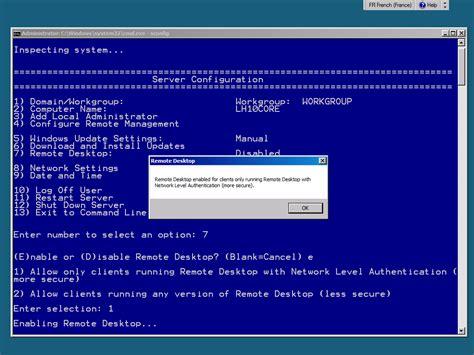 connexion bureau à distance windows 7 configuration d un windows server 2008 r2 en mode