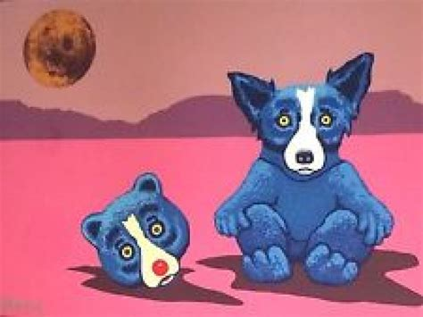 painting on plexiglass blue george rodrigue for sale