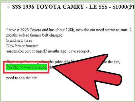 spot car scams  craigslist  steps  pictures
