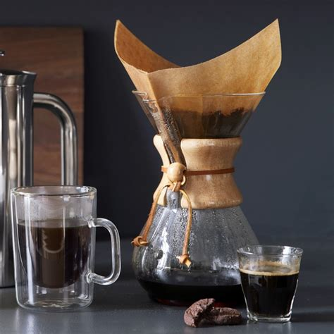 #woodscoffee #pnwoods start a coffee subscription with a free bag! Chemex® Pour-Over Glass Coffee Maker with Wood Collar | Williams Sonoma