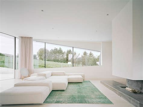 all white homes freundorf residence futuristic all white house near vienna austria by project a01 architects