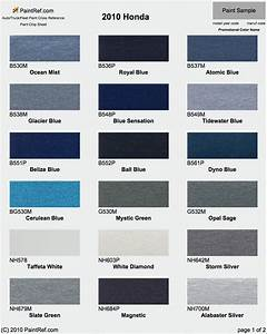 2011 Honda Odyssey Color Chart Paint Chips 2010 Honda Accord
