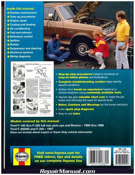 automotive repair manual 1989 ford ranger regenerative braking ford pickup trucks bronco 2wd 4wd 1980 1997 haynes auto repair manual