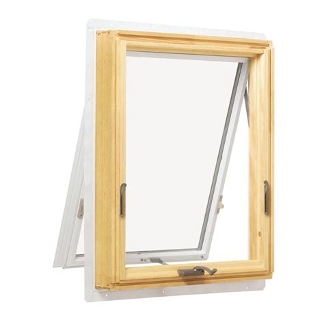 andersen       series awning wood window white ar   home depot