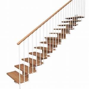 Escalier Droit Bois : escalier droit contemporain limon central bois ~ Premium-room.com Idées de Décoration