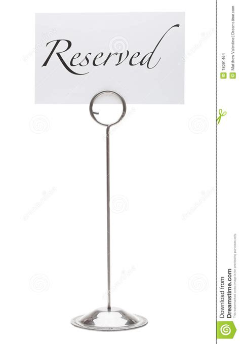reserved sign  restaurant table stock photo image