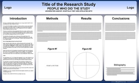 poster samples free powerpoint scientific research poster templates for