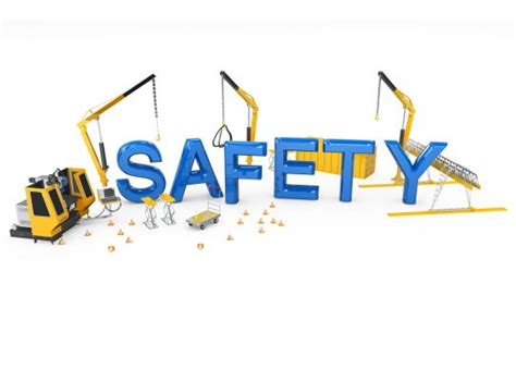 safety word   cranes  background stock photo