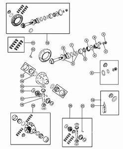 05252591ab - Jeep Gear Kit  Center Differential  Without  Axle