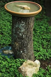 Cute Homemade Bird Bath Yard Stuff Pinterest Trees
