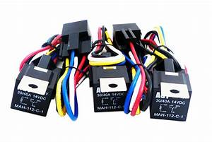 2x 12v 30 Amp Car Automotive Relay 5 Wires 5 Pin Harness Socket Spdt Bosch Style