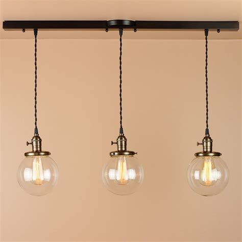 3 light chandelier linear pendant lights with 6 inch