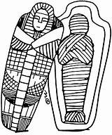Clipart Egyptian Egypt Ancient Mummies Drawing Sarcophagus Coloring Coffin Mummy Colouring Clip Cliparts Discoveryeducation Mummification Pages Sarcaphagus Sheets Doodle 1000 sketch template