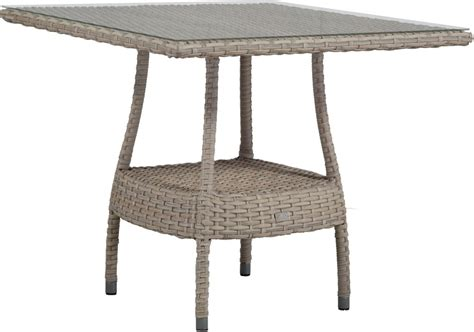 Square glass coffee table 48 w coffee tables beautiful framed, source: Sanibel Outdoor Wicker 48 Inch Square Dining Table TB9842 by Beachcraft
