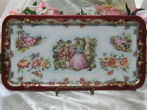 Daher Decorated Ware Tin Tray by Daher Decorated Ware Metal Tray