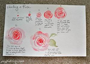 Step By Step Instructions For Diy Watercolor Roses To Help