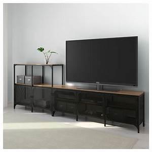 Meuble Tv 250 Cm : fj llbo combinaison meuble tv noir 250 x 36 x 93 cm ikea ~ Teatrodelosmanantiales.com Idées de Décoration