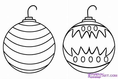 Christmas Draw Ornaments Step Drawing