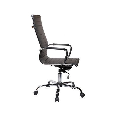 high back executive swivel black office chair leather