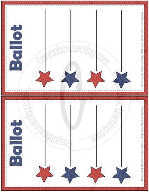blank ballot template  large images voting