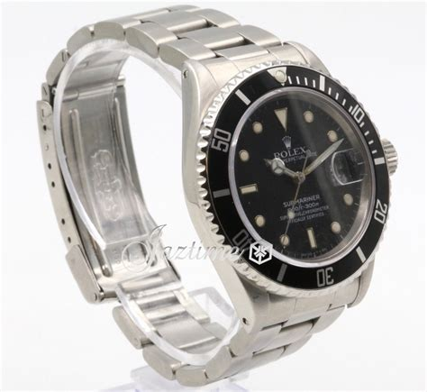 Rolex Submariner 16800 Men's 40mm Black Stainless Steel ...