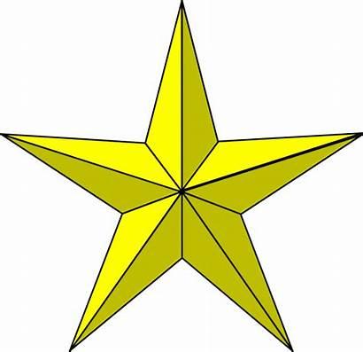 Star Gold Clip Clker Clipart Vector Cliparts